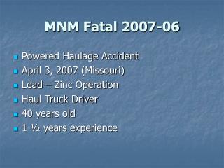 MNM Fatal 2007-06