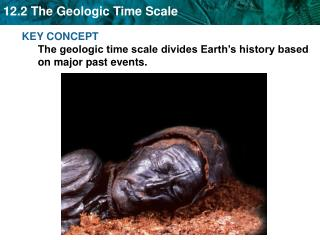 KEY CONCEPT  The geologic time scale divides Earth's history based on major past events.