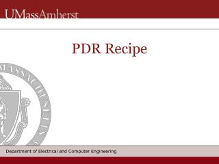 PDR Recipe