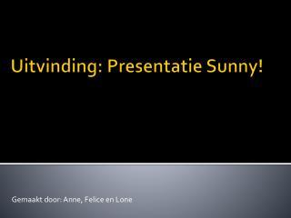 Uitvinding: Presentatie Sunny!