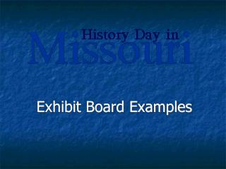 Exhibit Board Examples