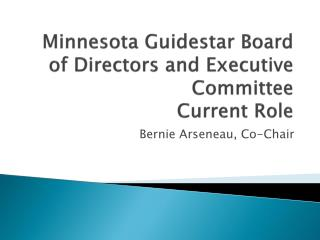 Minnesota Guidestar Board of Directors and Executive Committee Current Role