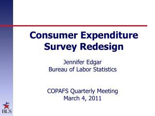 Consumer Expenditure Survey Redesign