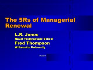 The 5Rs of Managerial Renewal