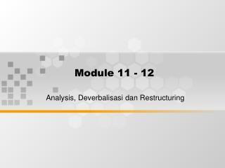 Module 11 - 12