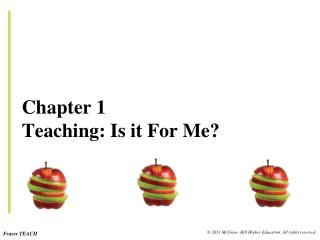 Chapter 1 Teaching: Is it For Me?