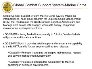 Global Combat Support System-Marine Corps