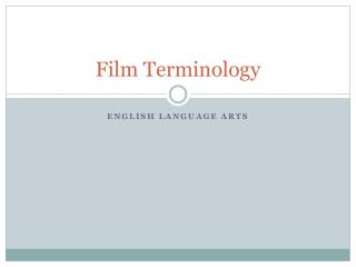 Film Terminology