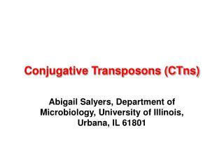 Conjugative Transposons (CTns)