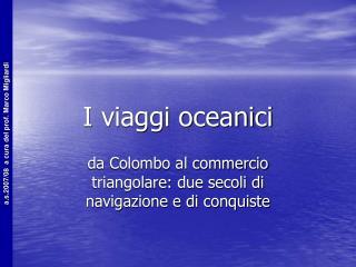 I viaggi oceanici