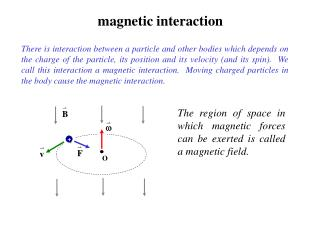 magnetic interaction