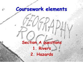 Coursework elements