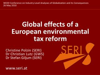 Global effects of a European environmental tax reform