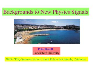 Backgrounds to New Physics Signals