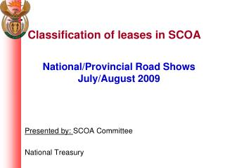 Classification of leases in SCOA