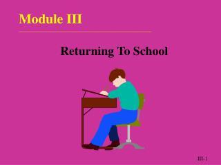 Module III ______________________________________________________