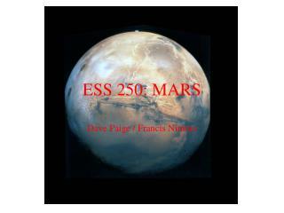ESS 250: MARS