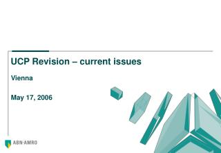 UCP Revision   current issues
