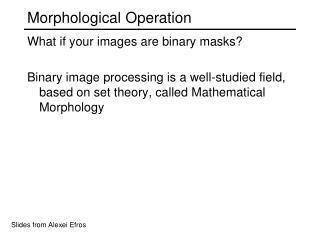 Morphological Operation