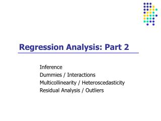 Regression Analysis: Part 2