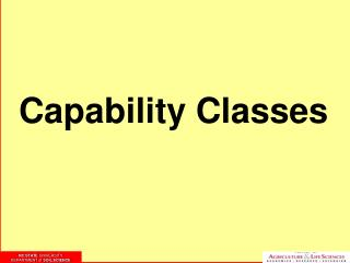 Capability Classes