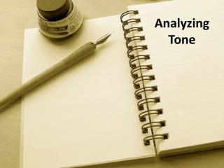 Analyzing Tone