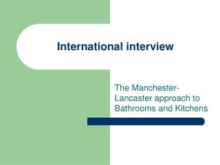 International interview