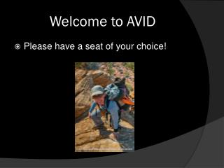 Welcome to AVID
