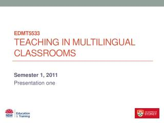 EDMT5533 Teaching in Multilingual Classrooms