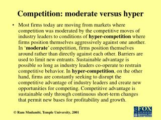 Competition: moderate versus hyper