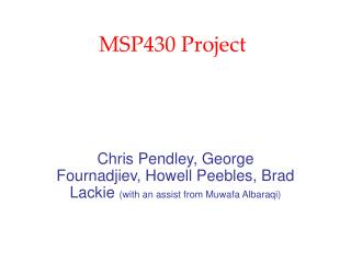 MSP430 Project