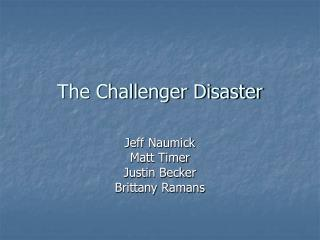 challenger disaster case study engineering ethics The space shuttle challenger disaster challenger also presented a case study in we will examine at least two aspects of this case: the ethics of.