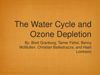 The Water Cycle and Ozone Depletion