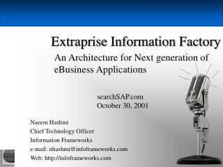 Extraprise Information Factory