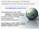 Family Environments of Children Adopted from the Former Soviet Union  adoption-research  teenaadoption-research