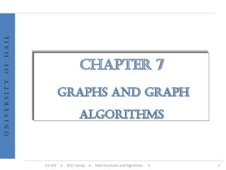 Chapter 7 Graphs and Graph Algorithms