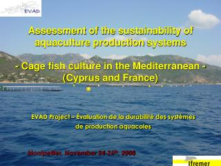 Assessment of the sustainability of aquaculture production systems - C age fish culture in the Mediterranean  - ( Cypru