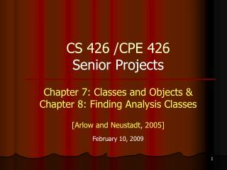 CS 426 /CPE 426  Senior Projects