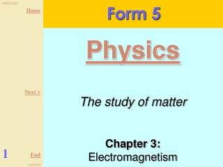 Chapter 3:  Electromagnetism