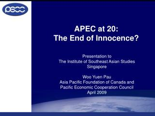 APEC at 20: The End of Innocence?