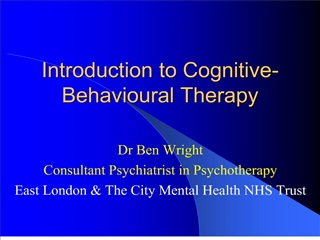 Introduction to Cognitive-Behavioural Therapy