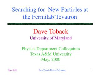 Searching for  New Particles at the Fermilab Tevatron