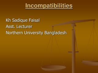 Incompatibilities