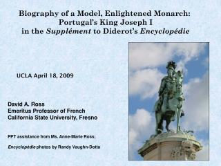 Biography of a Model, Enlightened Monarch:  Portugal's King Joseph I in the  Supplément  to Diderot's  Encyclopédie