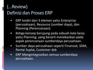 (…Review)  Definisi dan Proses ERP