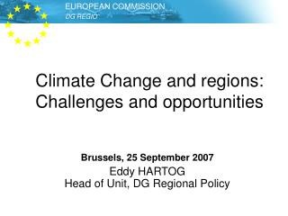 Climate  Change and regions: Challenges and opportunities