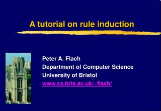 A tutorial on rule induction