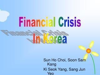 Sun Ho Choi, Soon Sam Kang Ki Seok Yang, Sang Jun Yeo