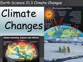 Earth Science 21.3 Climate Changes