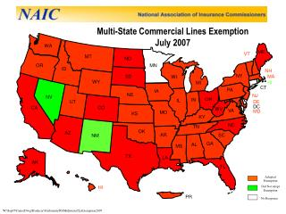 Multi-State Commercial Lines Exemption July 2007